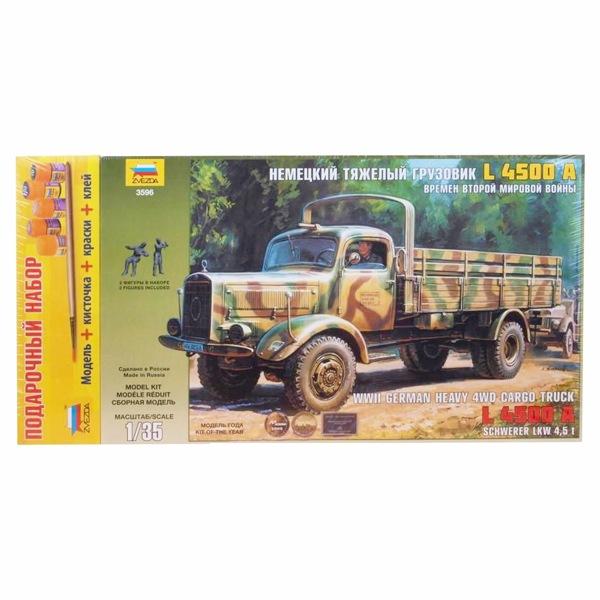 Набор подарочный для сборки «Немецкий тяжёлый грузовик L4500A»Модели автомобилей для склеивания<br>Набор подарочный для сборки «Немецкий тяжёлый грузовик L4500A»<br>