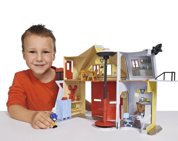 Пожарная станция со звуком и светом, 30 см. из серии «Пожарный Сэм» - Пожарный СЭМ, артикул: 133981