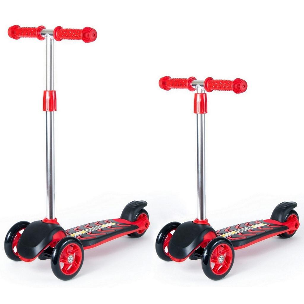 Купить Детский трехколесный самокат RT ORION MIDI 164A, красно-черный