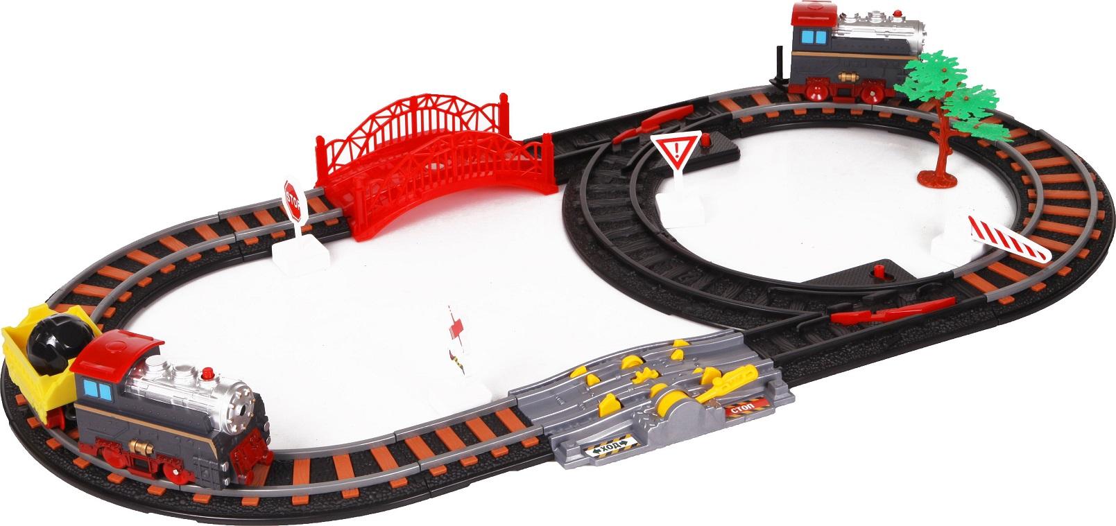 Железная дорога - Останови крушение! с 2-мя стрелками, механизмом остановки и семафоромДетская железная дорога<br>Железная дорога - Останови крушение! с 2-мя стрелками, механизмом остановки и семафором<br>