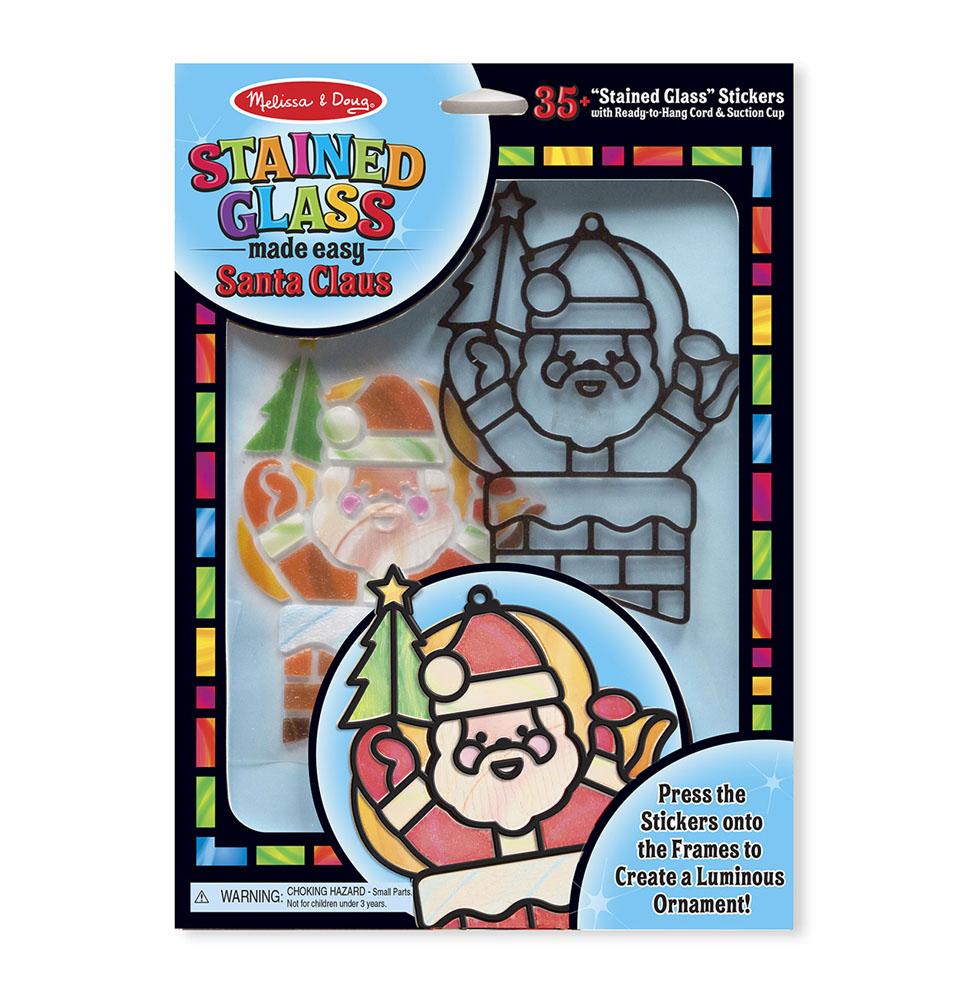 Купить Набор – Творчество – Витраж - Санта Клаус, Melissa&Doug