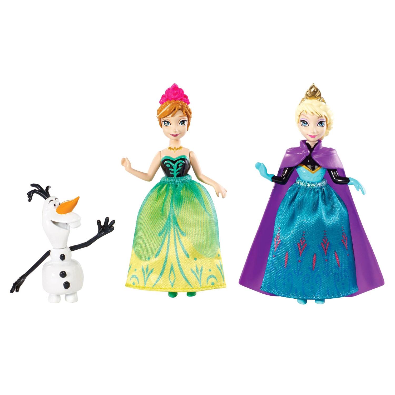 Куклы - Анна и Эльза- героини м/ф Холодное Сердце, в наборе с ОлафомКуклы холодное сердце<br>Куклы - Анна и Эльза- героини м/ф Холодное Сердце, в наборе с Олафом<br>