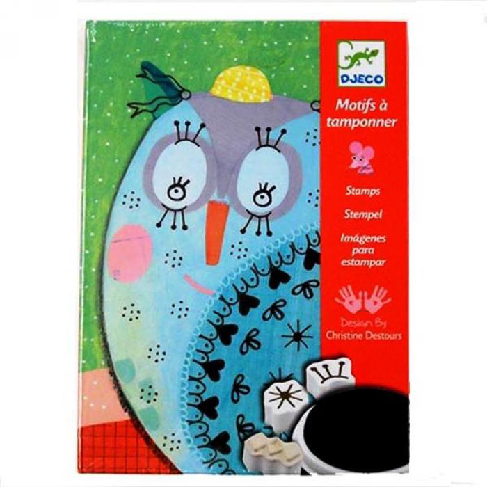 Купить Набор для творчества со штампами - Милые животные, Djeco