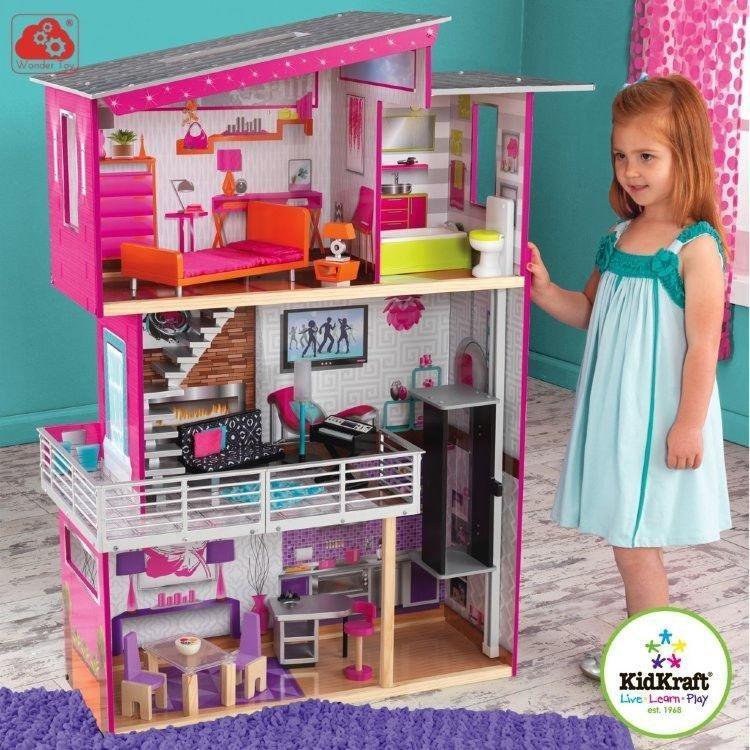 Дом для Барби - Роскошный дизайн Luxury - с мебелью и интерактивомКукольные домики<br>Дом для Барби - Роскошный дизайн Luxury - с мебелью и интерактивом<br>