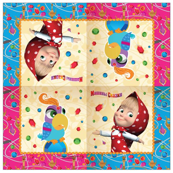 Купить Салфетки 20 шт. «Машины сказки» Маша и Медведь, Росмэн
