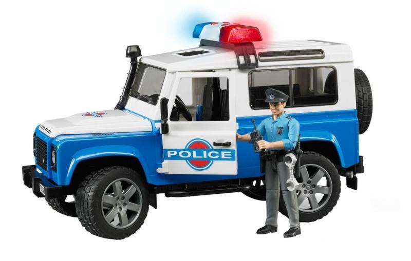 Внедорожник Land Rover Defender Station Wagon - Полиция с фигуркойФургоны и машины<br>Внедорожник Land Rover Defender Station Wagon - Полиция с фигуркой<br>