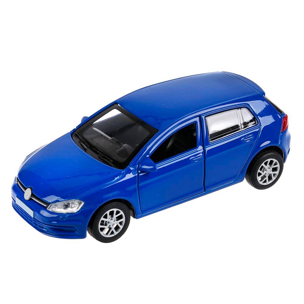 Купить со скидкой Металлическая инерционная машина - Golf Хэтчбек, цвет синий, 12 см