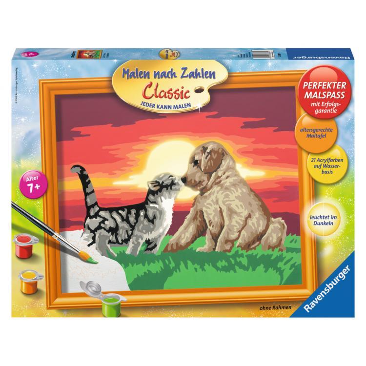 Раскрашивание по номерам Котенок и щенокРаскраски по номерам Schipper<br>Раскрашивание по номерам Котенок и щенок<br>