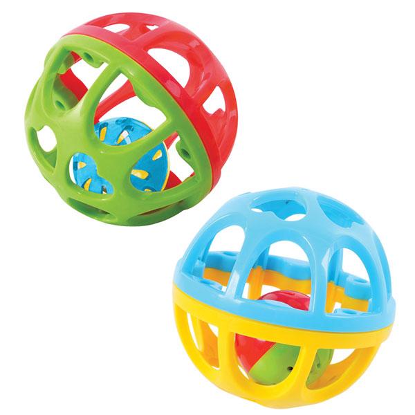 Развивающая игрушка - Мяч-погремушкаДетские погремушки и подвесные игрушки на кроватку<br>Развивающая игрушка - Мяч-погремушка<br>