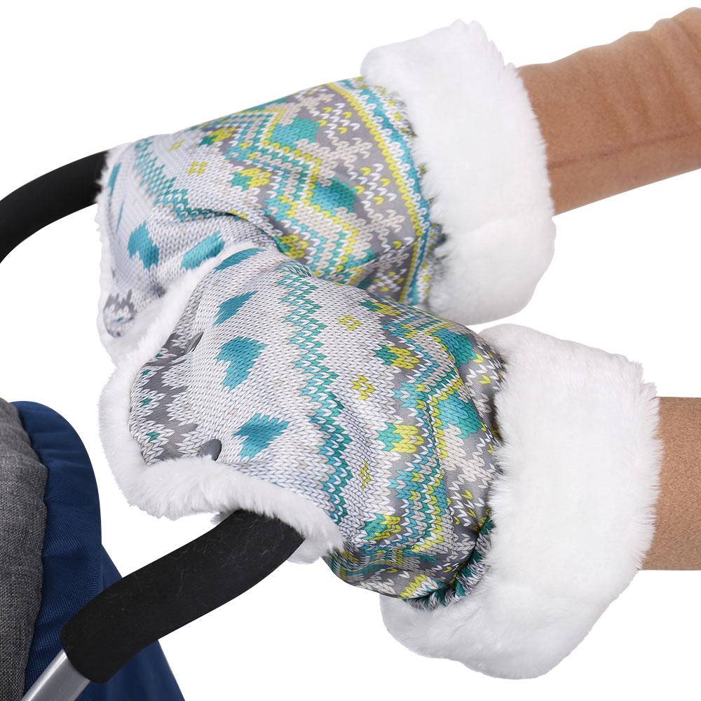 Рукавички для санок - принт вязаныйАксессуары для путешествий и прогулок<br>Рукавички для санок - принт вязаный<br>