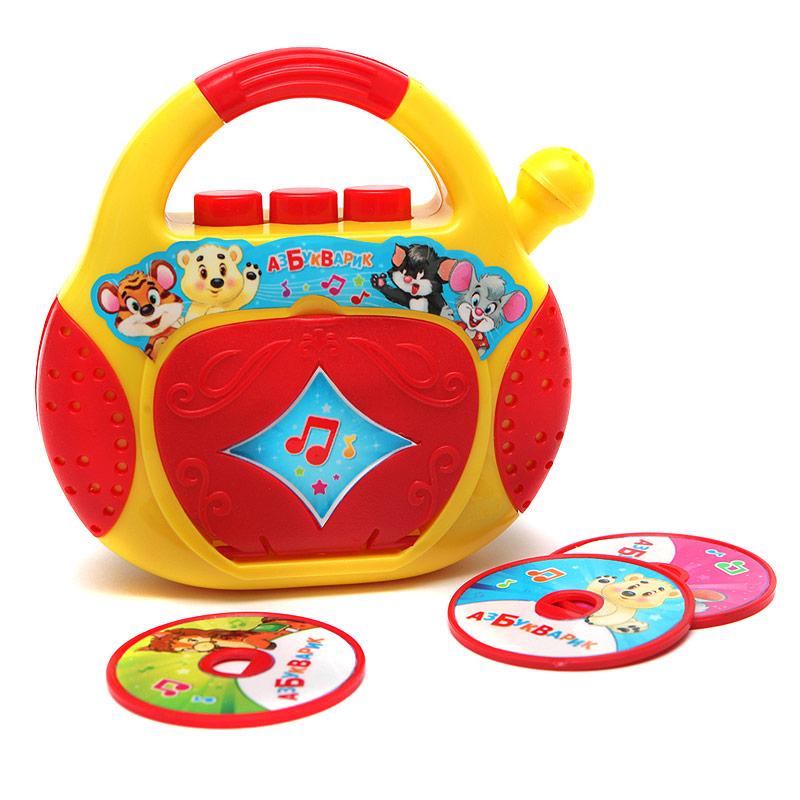 Купить Музыкальная игрушка Плеер-CD – Песенки-Чудесенки, звук, Азбукварик