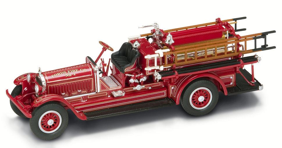 Модель пожарного автомобиля Stutz Model C, образца 1924 года, масштаб 1/43, Yat Ming  - купить со скидкой