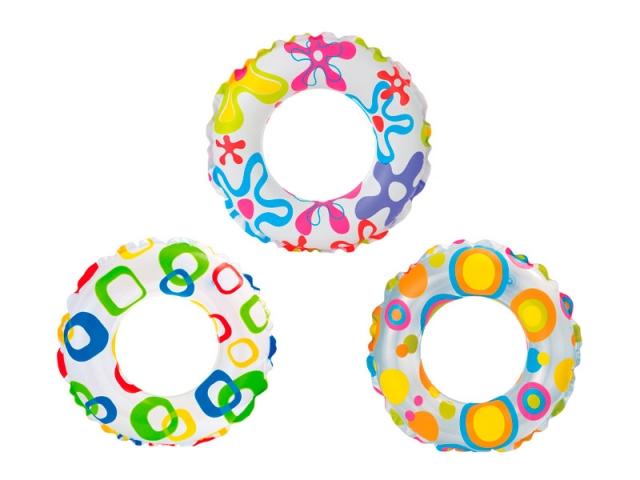 Круг надувной пестрый – Веселый, диаметр 51 см.Надувные животные, круги и матрацы<br>Круг надувной пестрый – Веселый, диаметр 51 см.<br>