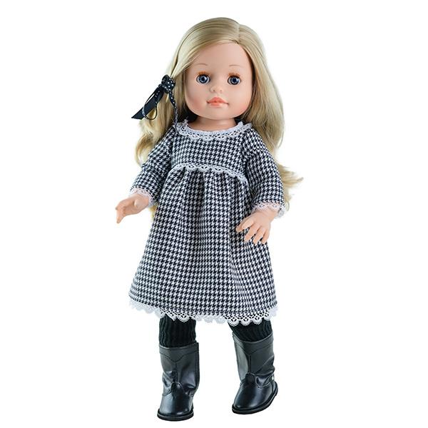 Кукла Эмма в клетчатом платье, 42 см., Paola Reina  - купить со скидкой