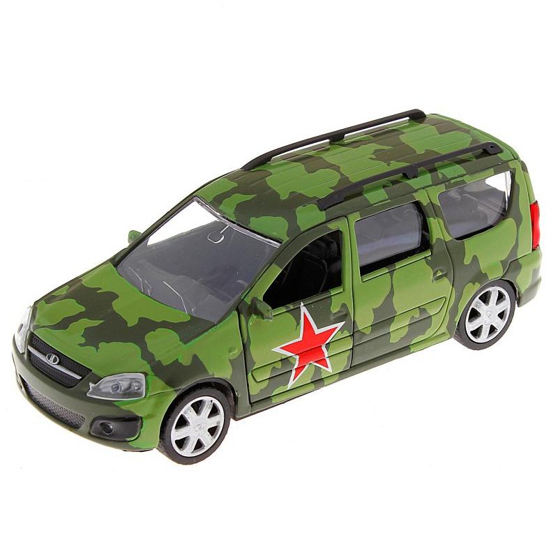 Машинка металлическая Lada Largus – Армейская, 1:38Военная техника<br>Машинка металлическая Lada Largus – Армейская, 1:38<br>