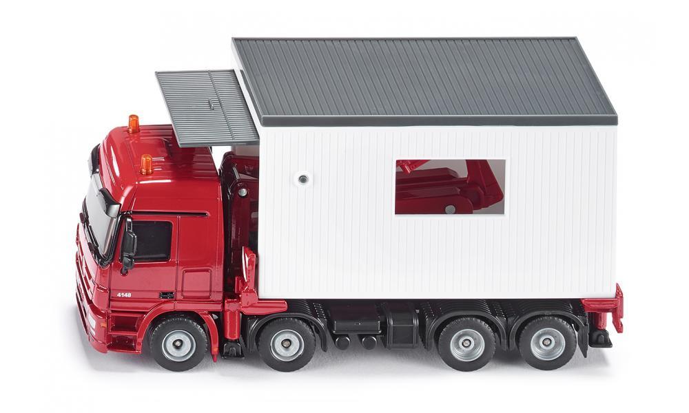Купить Игрушечный транспортер с гаражом - Mercedes Actros, 1:50, Siku