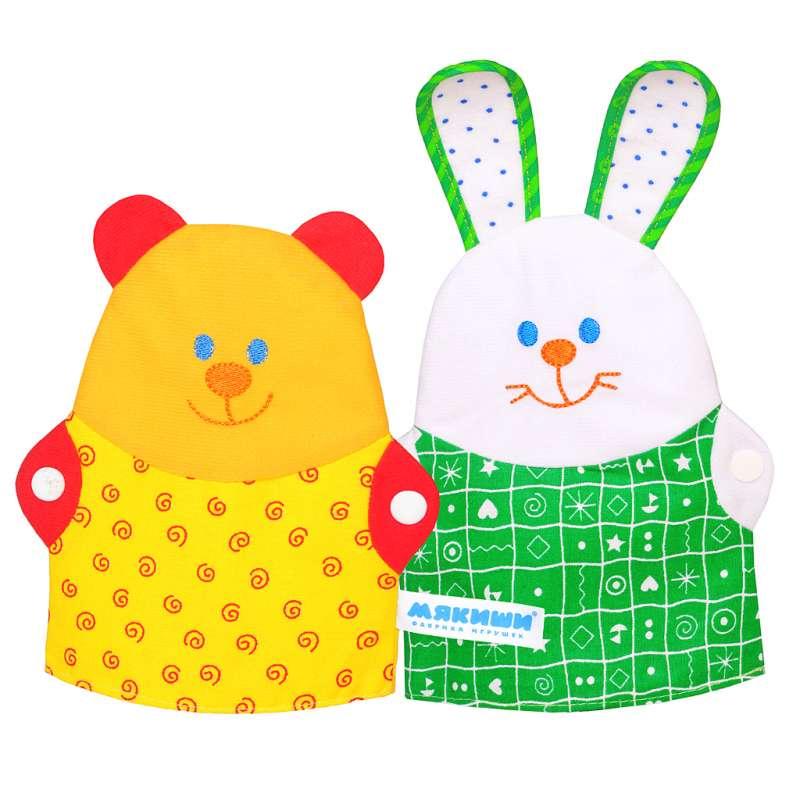 Перчаточные куклы - Зайка и МишкаДетский кукольный театр <br>Перчаточные куклы - Зайка и Мишка<br>