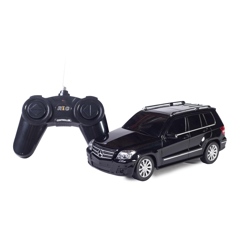 Машина на р/у - Mercedes GLK, черный, 1:24, свет