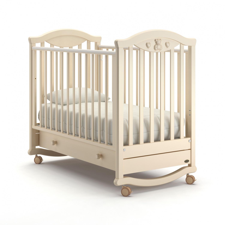Детская кровать Nuovita Lusso dondolo, цвет - Avorio/Слоновая кость фото
