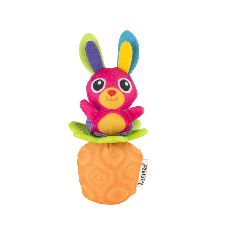 Погремушка - Зайка и морковкаДетские погремушки и подвесные игрушки на кроватку<br>Погремушка - Зайка и морковка<br>