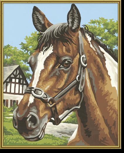 Творческий художественный набор ЛошадьРаскраски по номерам Schipper<br>Творческий художественный набор Лошадь<br>