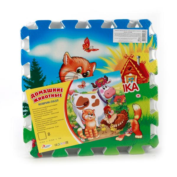 Купить Коврик-пазл – Домашние животные, 8 сегментов, Играем вместе
