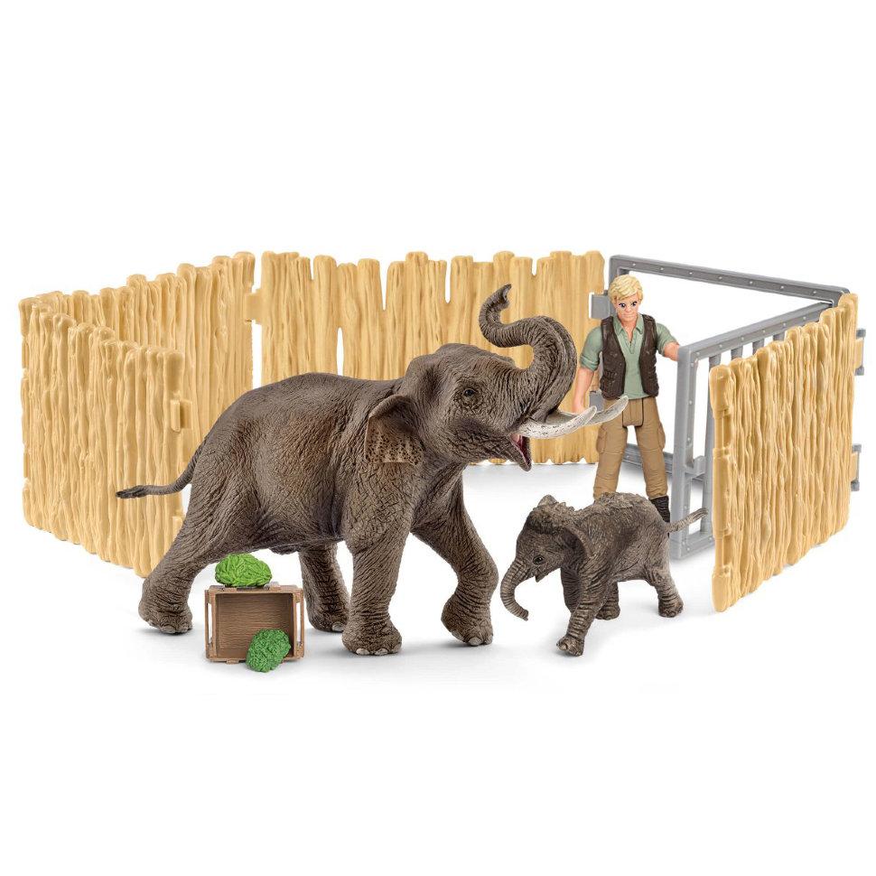 Купить Игровой набор – Уход за слоном, Schleich