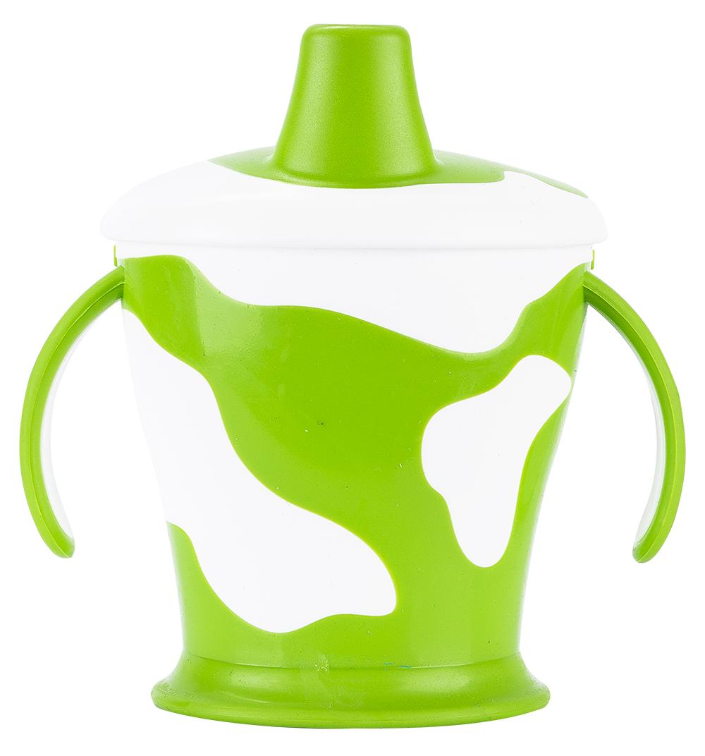 Чашка-непроливайка с ручками - Little cow, 250 мл, 9+, зеленый