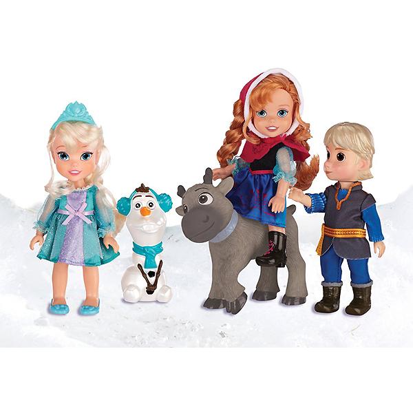 Игровой набор из серии Холодное Сердце - Принцессы Дисней, 5 кукол, 15 см.Куклы холодное сердце<br>Игровой набор из серии Холодное Сердце - Принцессы Дисней, 5 кукол, 15 см.<br>