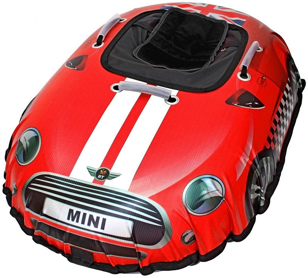 Санки надувные Тюбинг Snow auto Mini Cooper, цвет красныйВатрушки и ледянки<br>Санки надувные Тюбинг Snow auto Mini Cooper, цвет красный<br>