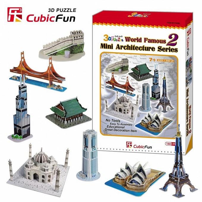 Купить 3D puzzles. Объёмный пазл Набор архитектора, 8 в 1, Cubic Fun