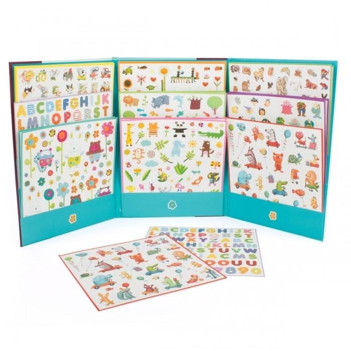 Купить Набор наклеек - 1000 наклеек для малышей, Djeco