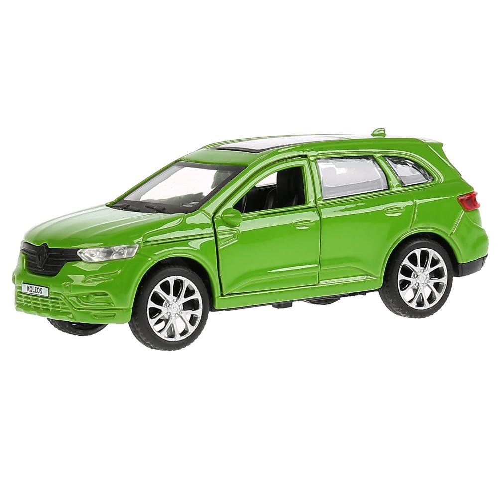 Машина металлическая Renault Koleos, зеленая, 12 см, открываются двери, инерционная, Технопарк  - купить со скидкой