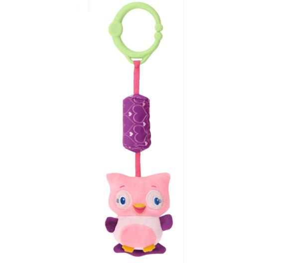 Развивающая игрушка  Звонкий дружок , Сова - Детские погремушки и подвесные игрушки на кроватку, артикул: 97352