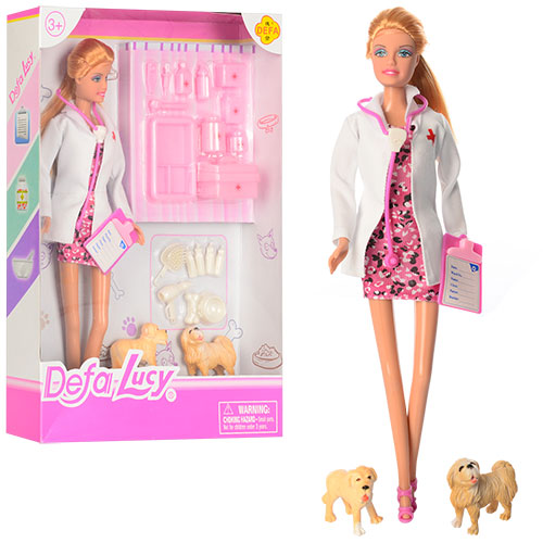 Кукла-Ветеринар , в наборе 2 собачки и аксессуарыКуклы Defa Lucy<br>Кукла-Ветеринар , в наборе 2 собачки и аксессуары<br>