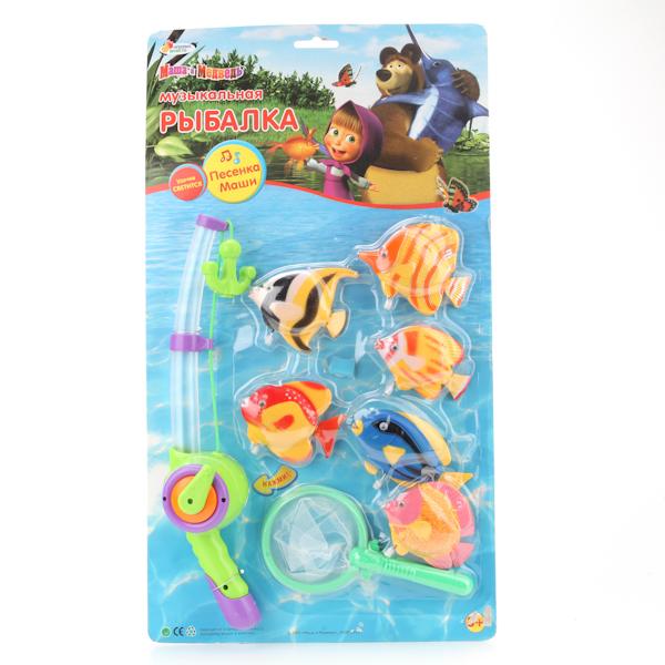 Игровой набор – Рыбалка «Маша и медведь» на батарейках, со светом и звукомИгрушки для ванной<br>Игровой набор – Рыбалка «Маша и медведь» на батарейках, со светом и звуком<br>