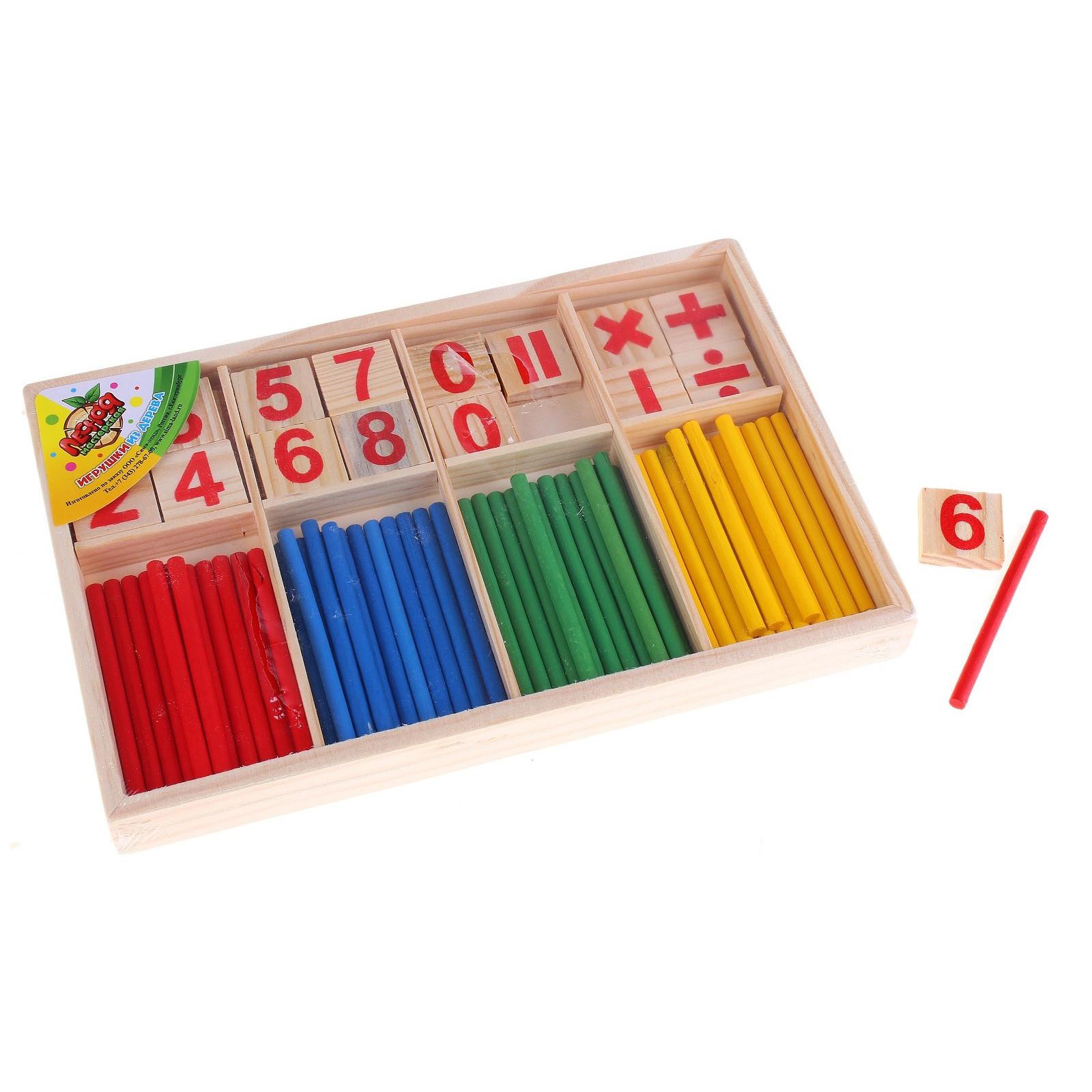 Набор для счета деревянный - Считаем вместе, со счетными палочкамиРазное<br>Набор для счета деревянный - Считаем вместе, со счетными палочками<br>