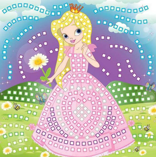 Мозаика Принцесса, более 400 деталей по цене 211