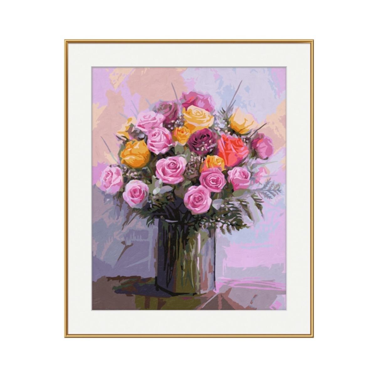 Набор для раскрашивания по номерам – Букет роз, 40 х 50 см.Раскраски по номерам Schipper<br>Набор для раскрашивания по номерам – Букет роз, 40 х 50 см.<br>