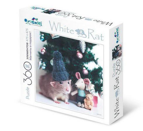 Купить Пазл 2020 Год Крысы. Лучший подарок, 360 деталей, 4 магнита, Origami