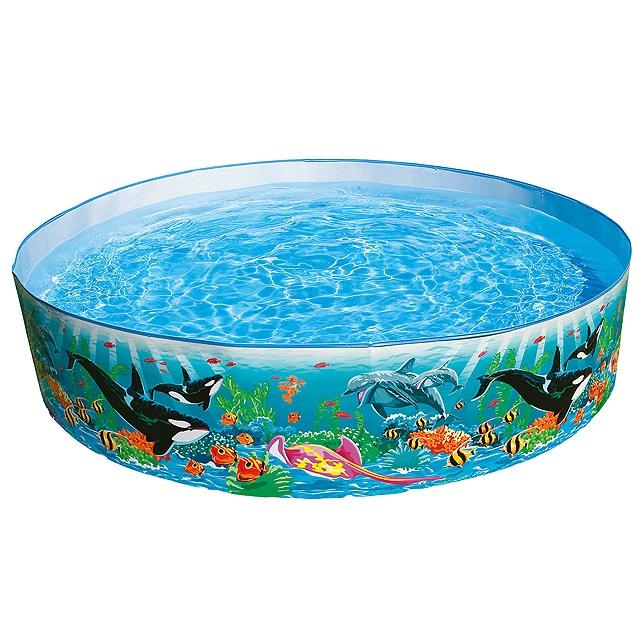 Intex Бассейн каркасный круглый, дизайн Океан с рыбками