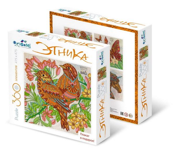 Купить Пазл Арт-терапия. Цветная Серия – Птицы, 360 деталей, Origami
