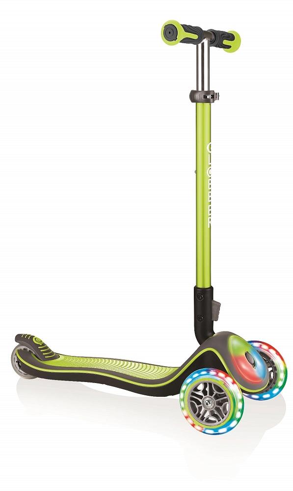 Купить Самокат трехколесный Globber Elite Deluxe Flash Lights - Зеленый