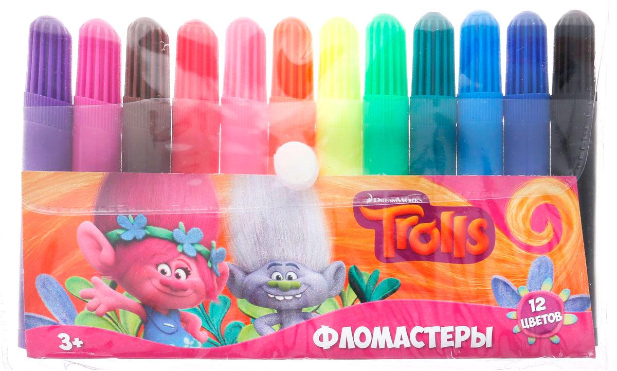 Фломастеры Тролли 12 цветов, в сумочкеФломастеры<br>Фломастеры Тролли 12 цветов, в сумочке<br>