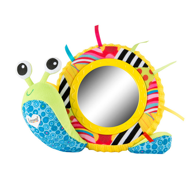 Мягкая игрушка - Улитка Мишель с зеркальцемИнтерактив для малышей<br>Мягкая игрушка - Улитка Мишель с зеркальцем<br>