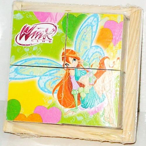 Деревянные кубики «Winx» 4 шт.Кубики<br>Деревянные кубики «Winx» 4 шт.<br>