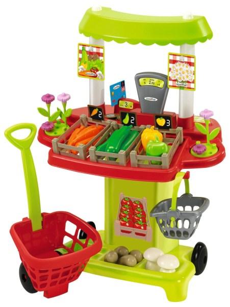 Игровой набор Овощной супермаркет с тележкой - Детская игрушка Касса. Магазин. Супермаркет, артикул: 64372