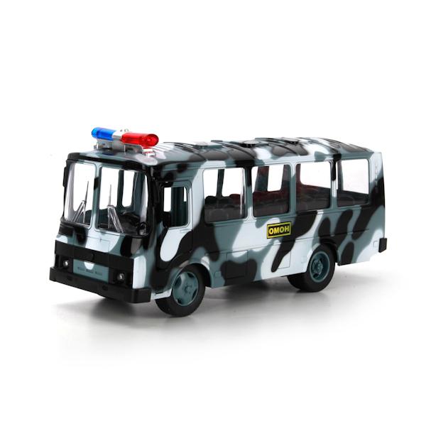 Инерционный автобус ПАЗ - ОМОН со светом и звукомАвтобусы, трамваи<br>Инерционный автобус ПАЗ - ОМОН со светом и звуком<br>