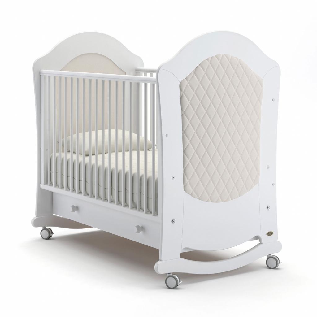 Купить Детская кровать - Nuovita Tempi dondolo, Bianco/Белый