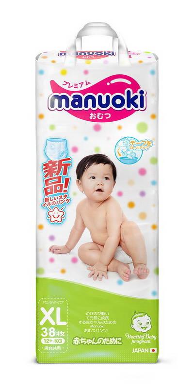 Купить Трусики-подгузники Manuoki, размер XL, 12+ кг, 38 шт